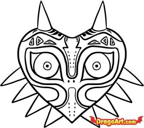 how to draw..majora's mask