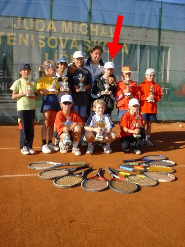 small Ester Satorova  and trophy..