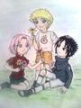 young sasuke Naruto sakura