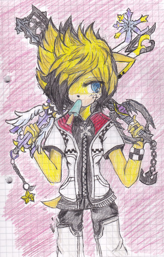 (Cosplay Request) .:Kingdom Hearts - Roxas:. ~ Valkyrien Rimako - sonic-fan-characters Photo