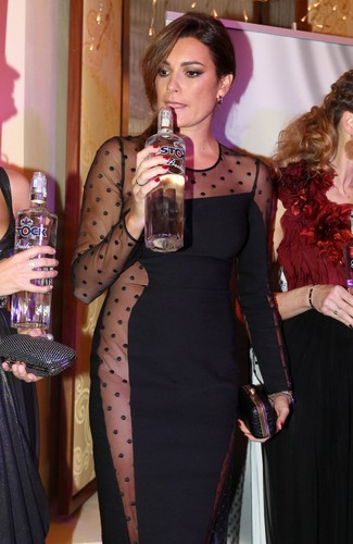 Alena Seredova transparent sexy dress