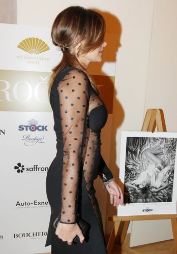 Alena Seredova transparent sexy dress