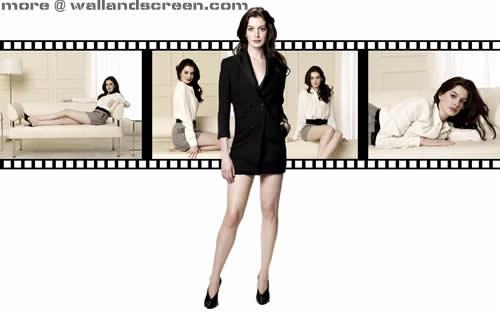 Anne Hathaway Computer karatasi la kupamba ukuta