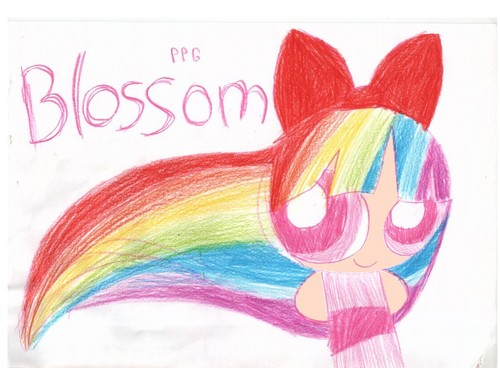 Blossom's রামধনু hair