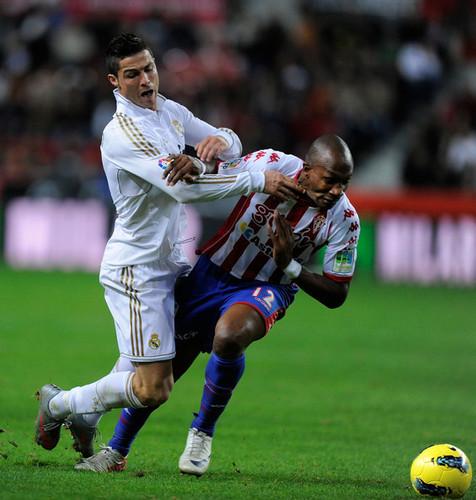 Cristiano Ronaldo achtergrond entitled C. Ronaldo (Real Madrid - Sporting)