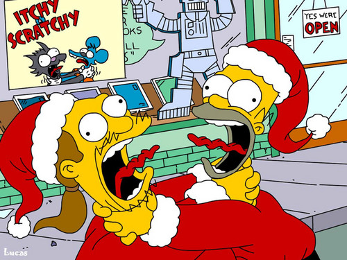 Christmas time! - the-simpsons Wallpaper