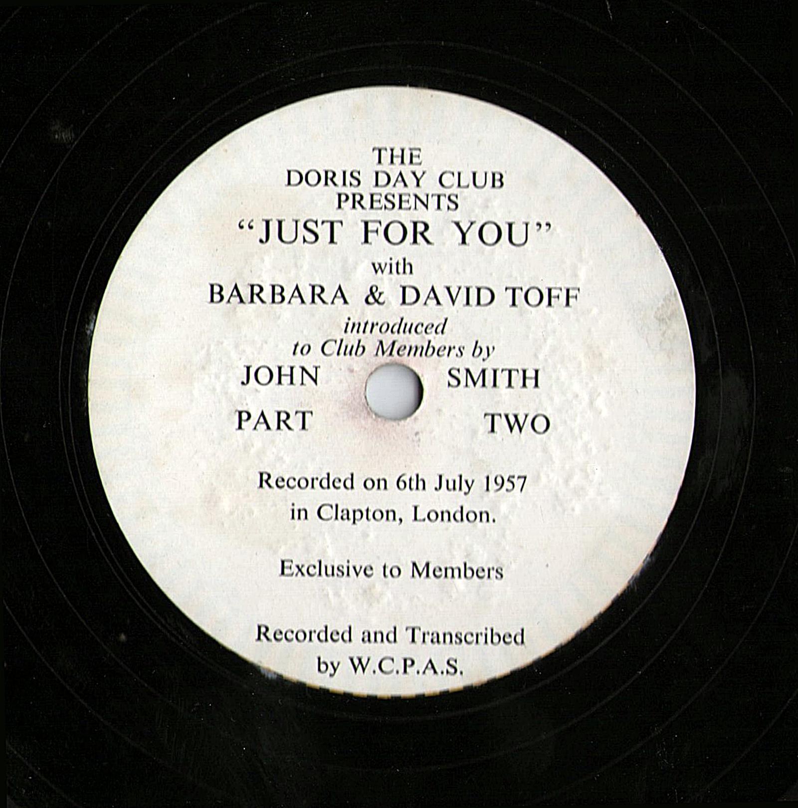 Doris Day Fan Club LP