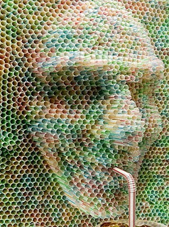 Modern Art wallpaper titled Drinking Straw Art
