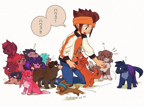 Endou with Inazuma Go