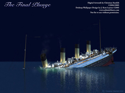 First Funnel Collapse - rms-titanic Photo