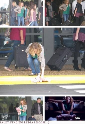 Haley season 9 at airport