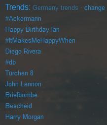 Happy Birthday Ian trending topic WORLDWIDE<3