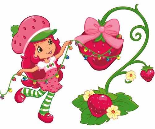 Strawberry Shortcake wallpaper entitled Happy Holidays from Berry Bitty City