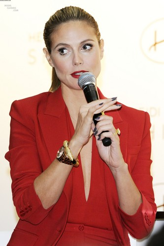 "Heidi Klum promoted her new fragrance ""Shine"" in Toronto, Canada"