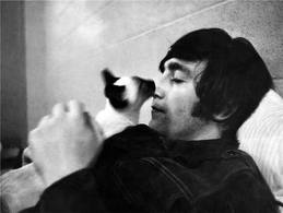 John with a Siamese cat