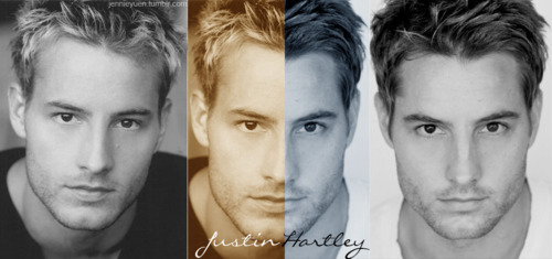 Justin Hartley Hintergrund probably with a portrait entitled Justin Hartley