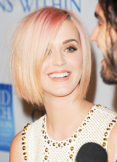 Katy Perry Debuts new short hairdo