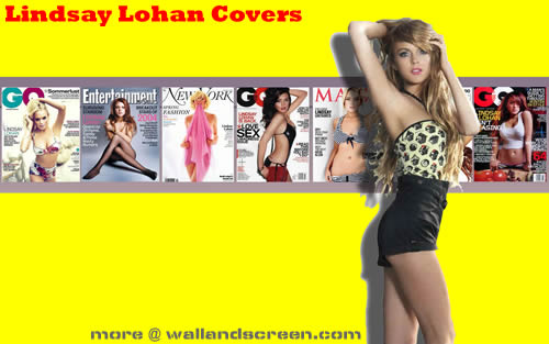 Lindsay Lohan Magazine Covers Wallpaper