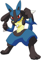 Lucario in action