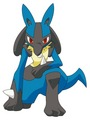 Lucario on ground.