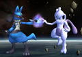 Lucario with Mewtwo - lucario photo