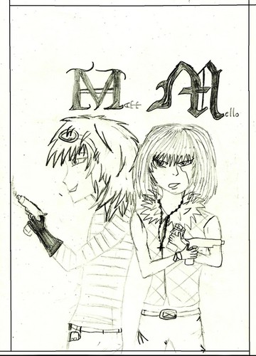 Death Note achtergrond containing anime entitled Matt and mello