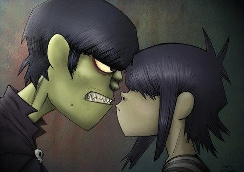 Murdoc and Noodle - gorillaz Photo