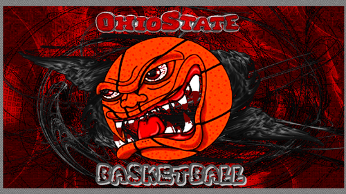 OHIO STATE basketball, basket-ball ANGRY BALL