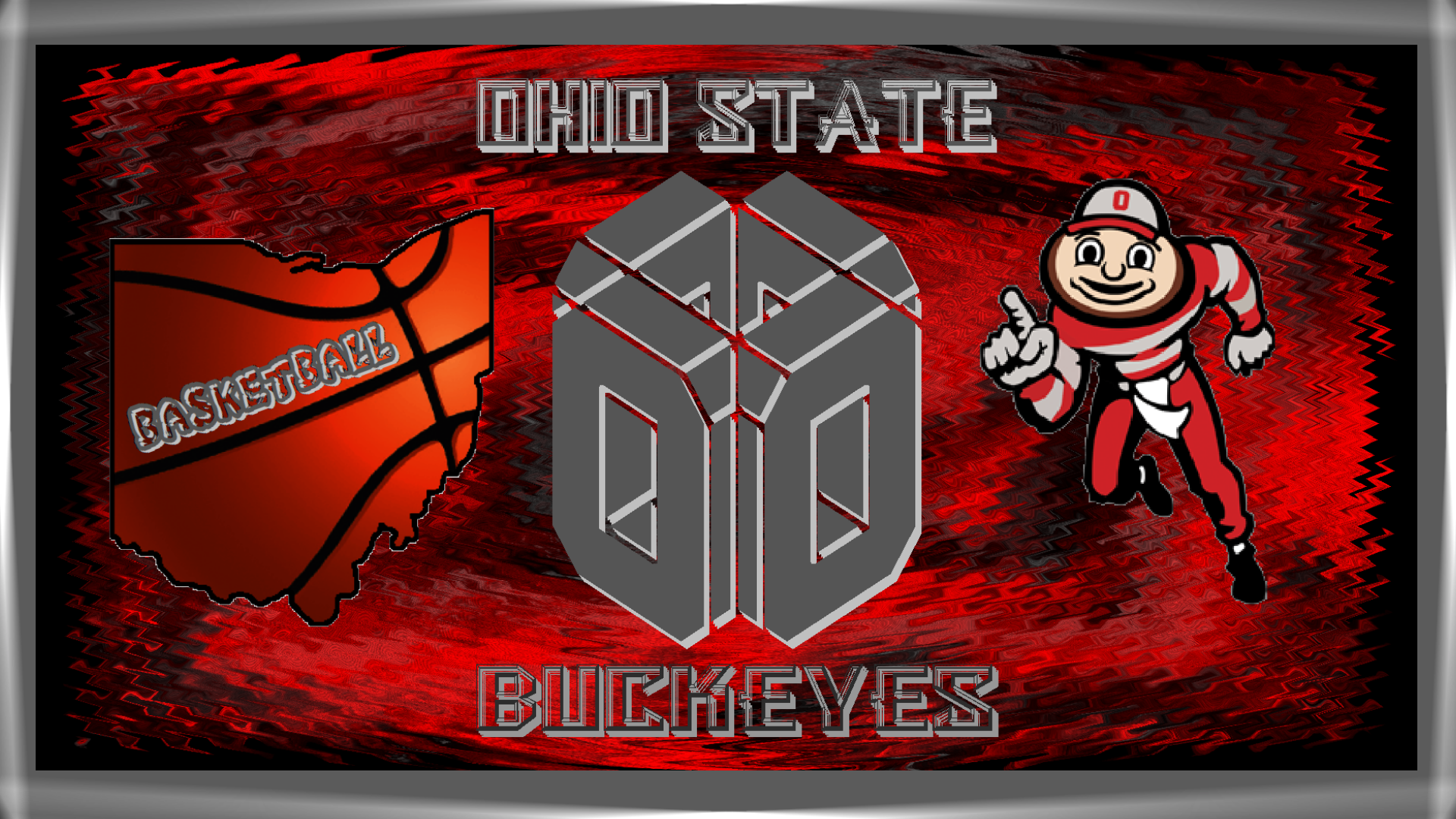 OHIO STATE BUCKEYES baloncesto fondo de pantalla