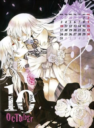 Pandora Hearts Calendar 2011