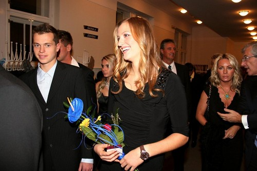 Pavlasek and Kvitova winter party