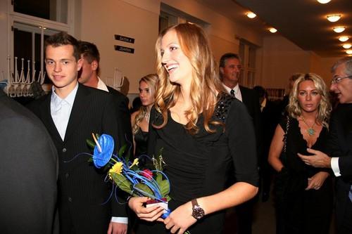 Pavlasek and Kvitova winter party