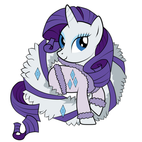 Rarity's Winter Dress