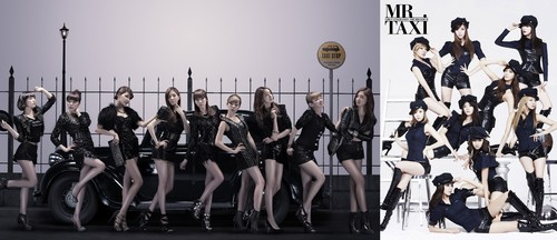 SNSD - Mr.Taxi ( Combined pic of Japanese and Korean version)