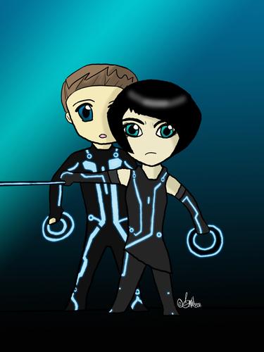 Sam and Quorra