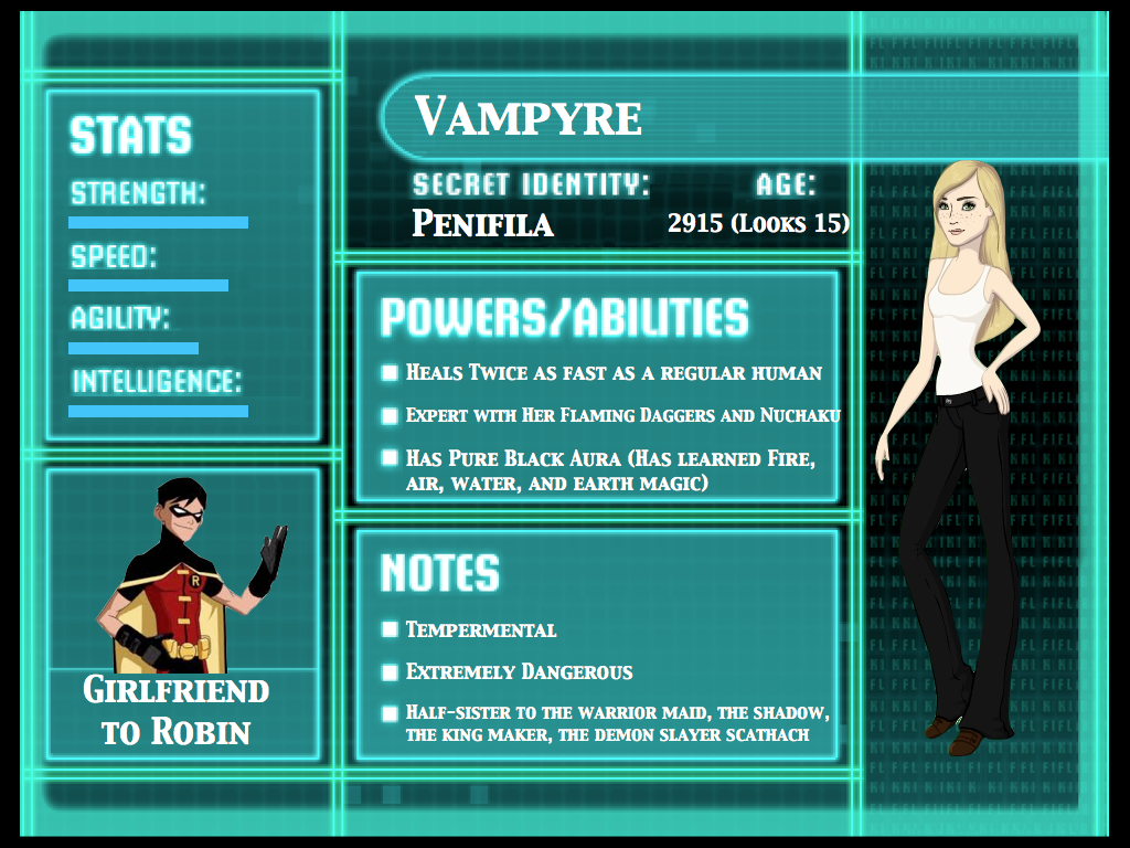 Vampyre Info For Skittles98 Young Justice PhotoYoung Justice Season 3 Character Bios
