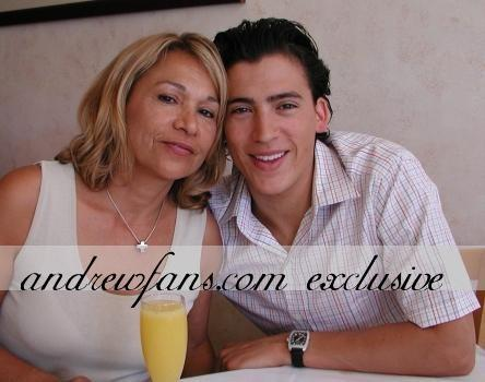 With his mom :)