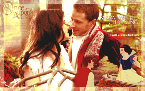 snow white &amp; charming - once-upon-a-time Wallpaper