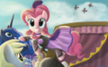 you gotta share you gotta care - pinkie-pie fan art