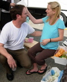 Angela Kinsey and Rainn Wilson