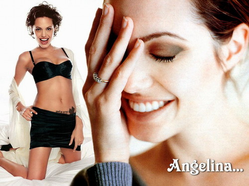 Angelina Jolie wallpaper probably with a brassiere titled Angelina Jolie