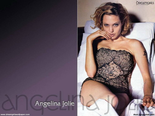 Angelina Jolie پیپر وال probably containing a leotard, a maillot, and a bustier, بسٹیر called Angelina Jolie