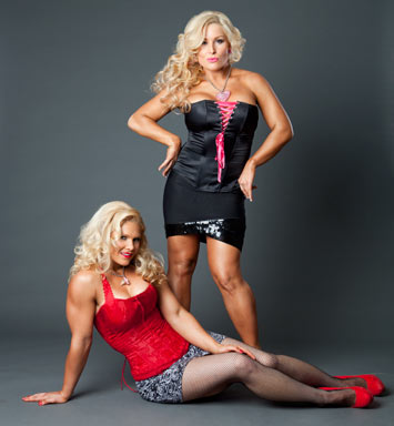 beth phoenix wallpaper containing a leotard and a bustier called Beth Phoenix and Natalya