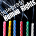 Celebrate Human Rights - Candles and Cake Theme