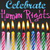 Human Rights تصویر called Celebrate Human Rights - Candles and Cake Theme