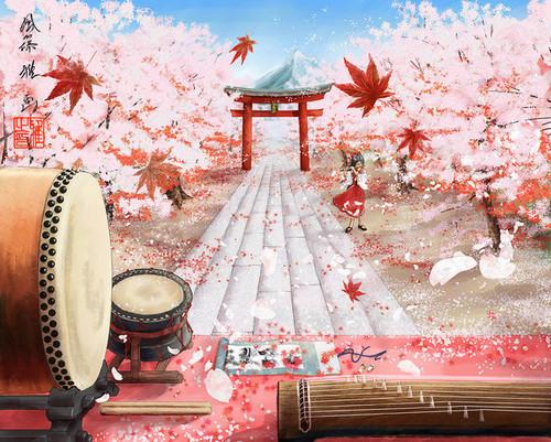 चेरी Blossom ऐनीमे Pics