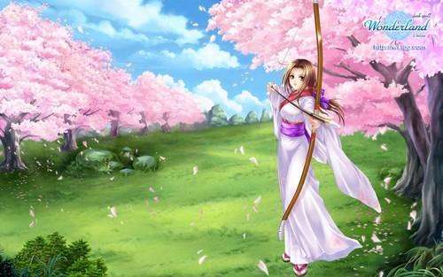 cereza, cerezo Blossom anime Pics