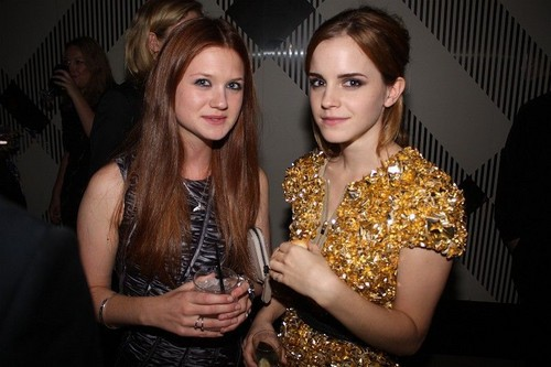 Emma Watson and Bonnie Wright- burberry Event