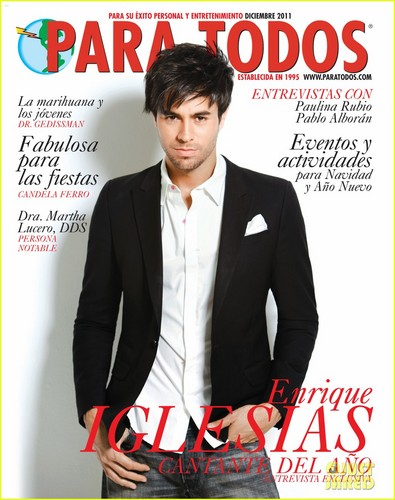 Enrique Iglesias wallpaper containing a business suit entitled Enrique Iglesias Covers 'Para Todos' December 2011