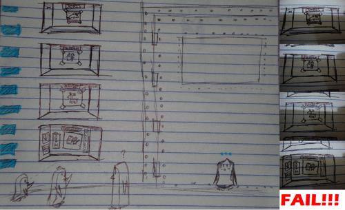 Failed bunk sketch